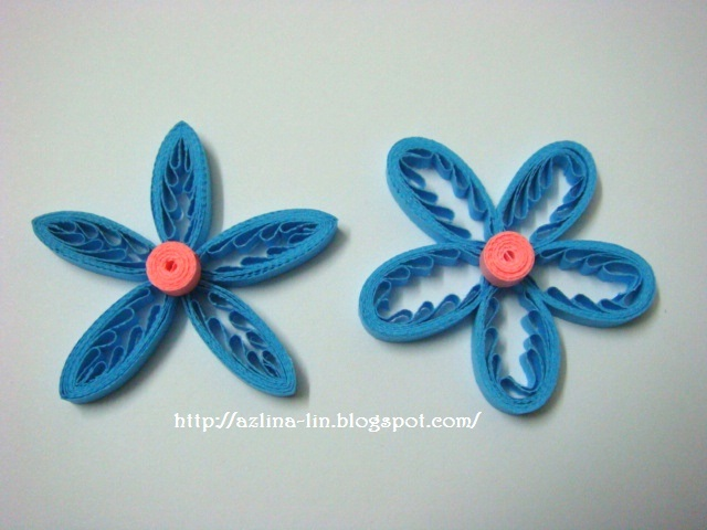 This Is Another Version Of The Tiny Loops Flower But It Made Using Quilling Comb As You Can See When A Becomes