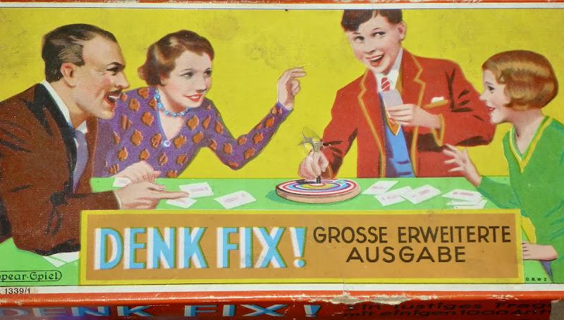 """Spieleschachtel von """"Denk Fix"""", große erweiterte Ausgabe, 1920-er Jahre"""
