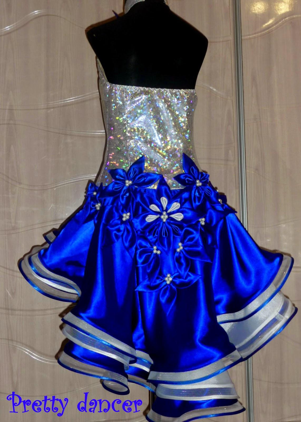 Платье латина синее