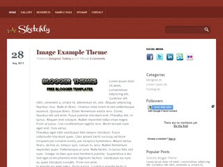 Sketchly Blogger Templates