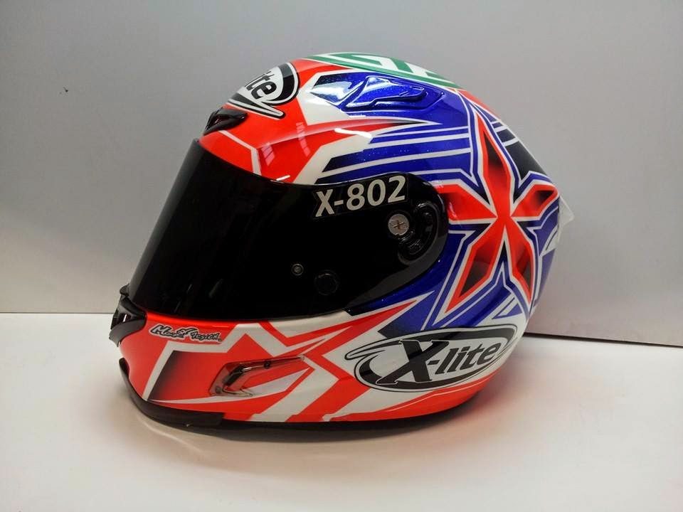 racing helmets garage x lite x 802r r lanusse 2014 by. Black Bedroom Furniture Sets. Home Design Ideas