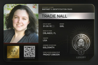 Hunger Games Citizen Registration Card