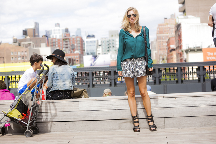Chloe Blouse Vintage Pattern Shorts Alxander Wang Petra Sandals