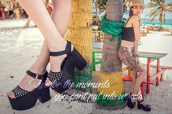 Sandalias con plataformas 2015. Moda calzado femenino 2015.