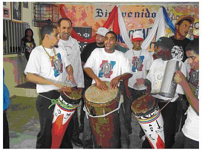 Tocando en el club Sol Naciente en San Cristóbal Sainagua Noviembre