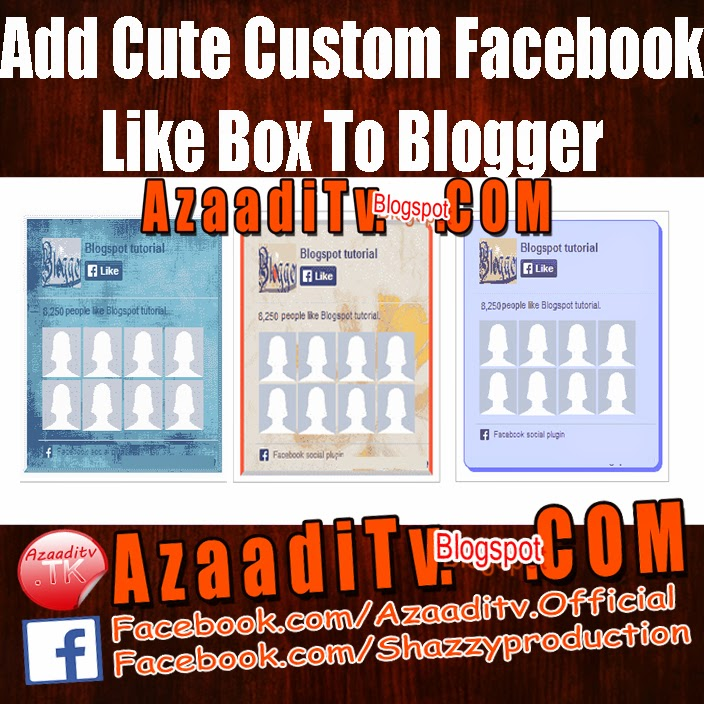 Facebook Like Box Customize Facebook Like Box is Very