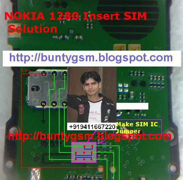 nokia 1280 Insert SIM Solution