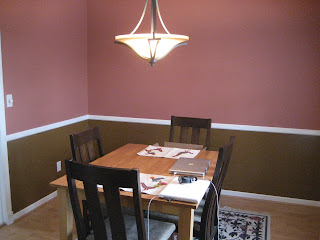 dining room more progress