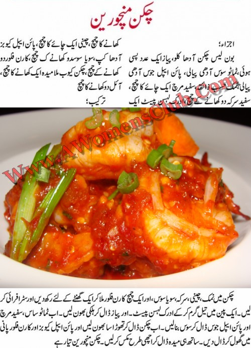Chicken Manchurian Recipe In Urdu Pakistani Food