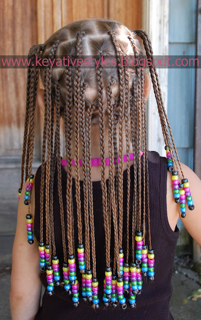 Keyative Styles Box Braids With Floating Beads