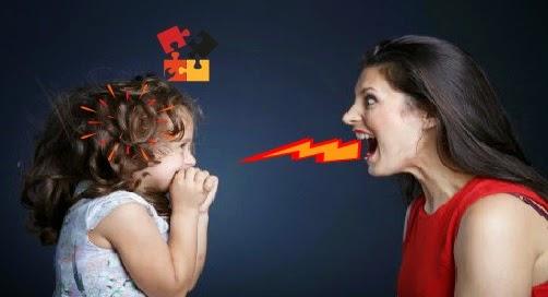 Waspada Rusaknya Otak Anak Anda Hanya Karena Membentaknya