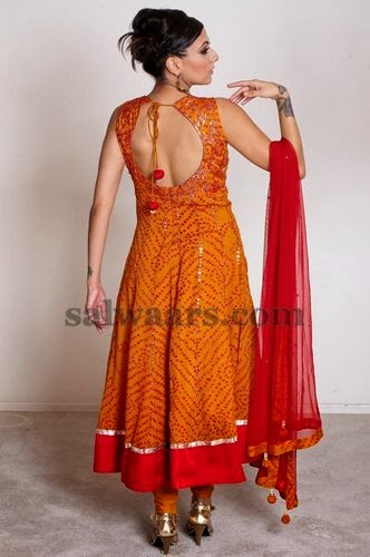 Back Neck Bandhini Salwar