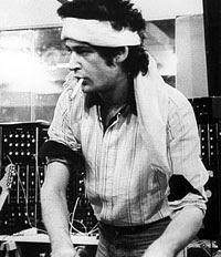 Richard Pinhas en el Heldon Studio en 1976/1977 durante el proceso de creación de Rhizosphère