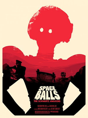 "Spaceballs ""The Schwartz Awakens"" Screen Print Series by Joshua Budich - ""Ain't Found Shit"""
