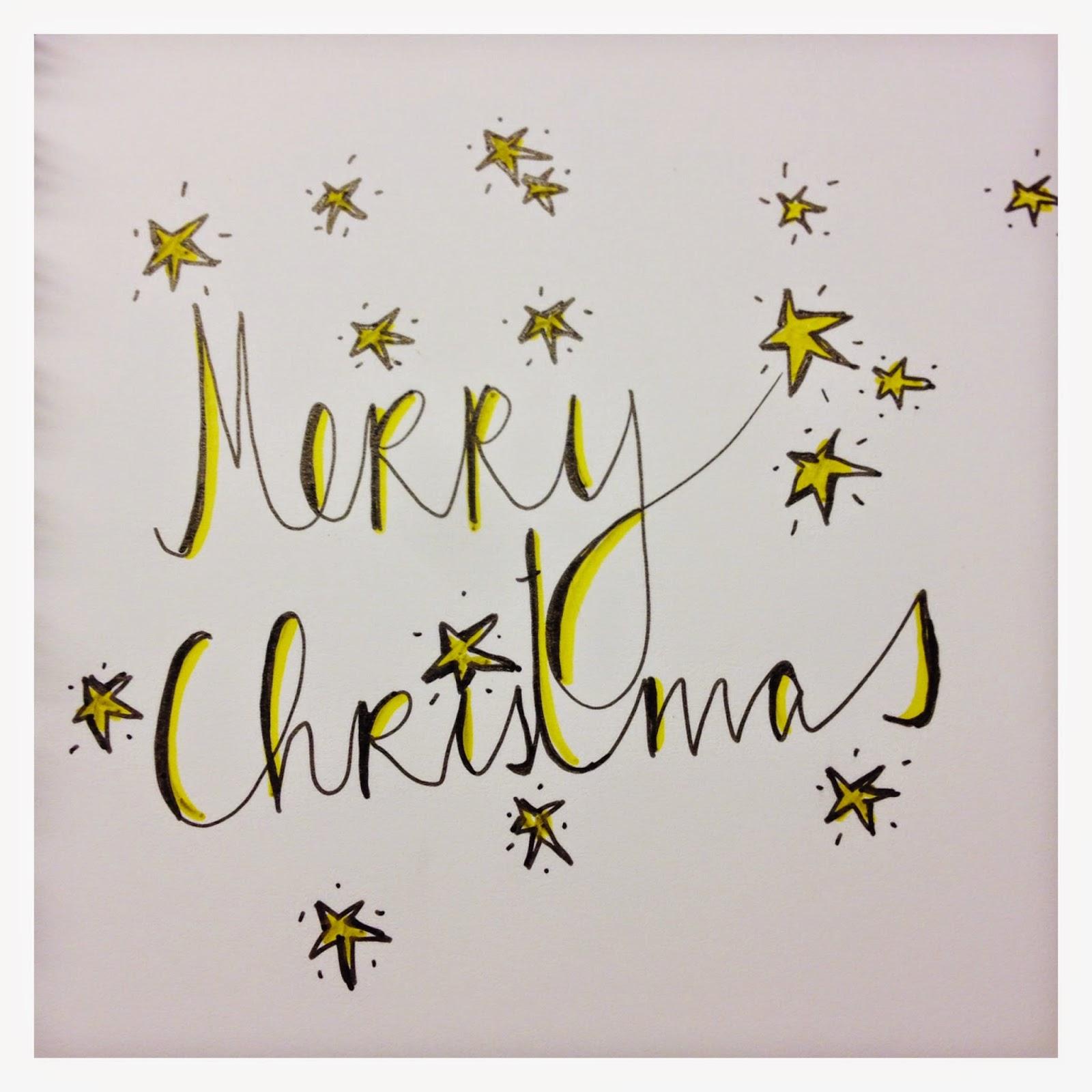 mit Strich und Faden | Merry Christmas Lettering