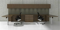 Cherryman Industries Two Person Desk