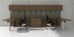 Cherryman Industries Two Person Desk