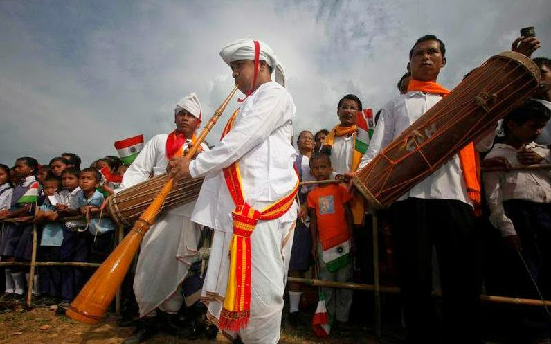 Tribals performing at the first International Jatinga Festival