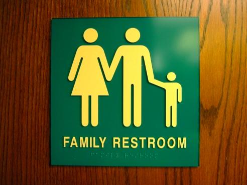 Family bathroom sign