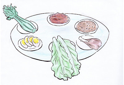 draw passover plate