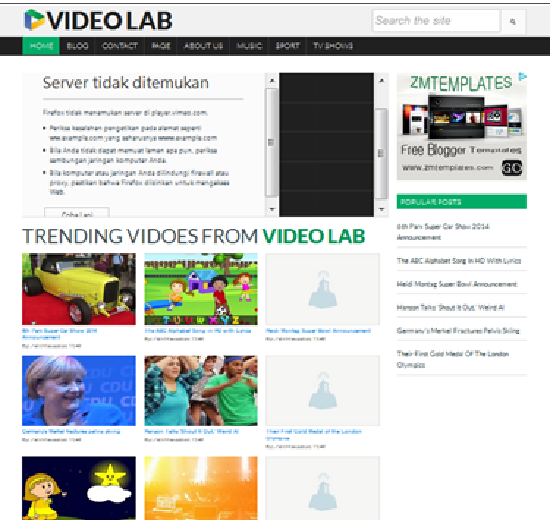 Template Video Lab, template blogger video