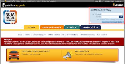 NeXT ERP NFS-e RPS nota fiscal de serviços eletrônica - nota fiscal paulistana