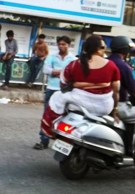 obese woman in sari