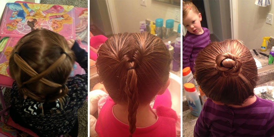 Single Dad entered beauty school to learn hairstyles for his 2 year ...