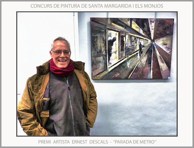SANTA MARIA MARGARIDA I ELS MONJOS-PINTURA-CONCURS-PREMIS-ARTISTA-PINTOR-ERNEST DESCALS-PARADA DE METRO-
