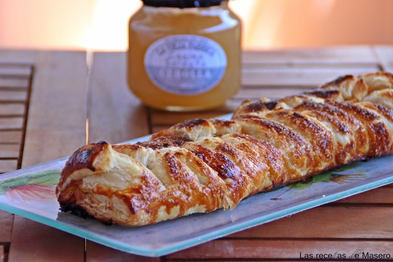 Trenza de hojaldre caramelizada