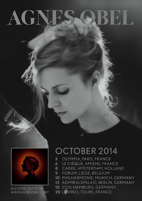 """Agnes Obel - """"Aventine"""" tour (seconde partie) octobre 2014"""
