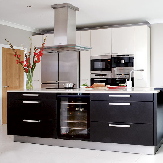 ... white scheme looks sleek and modern. Add character with red accents