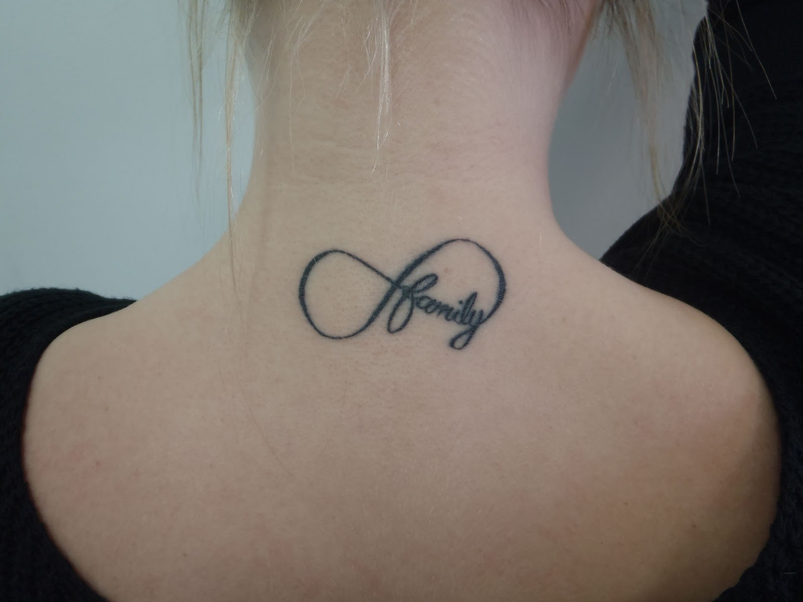 "Chloe's Infinity Symbol With &Quot;family"" Tattoo By Justin"