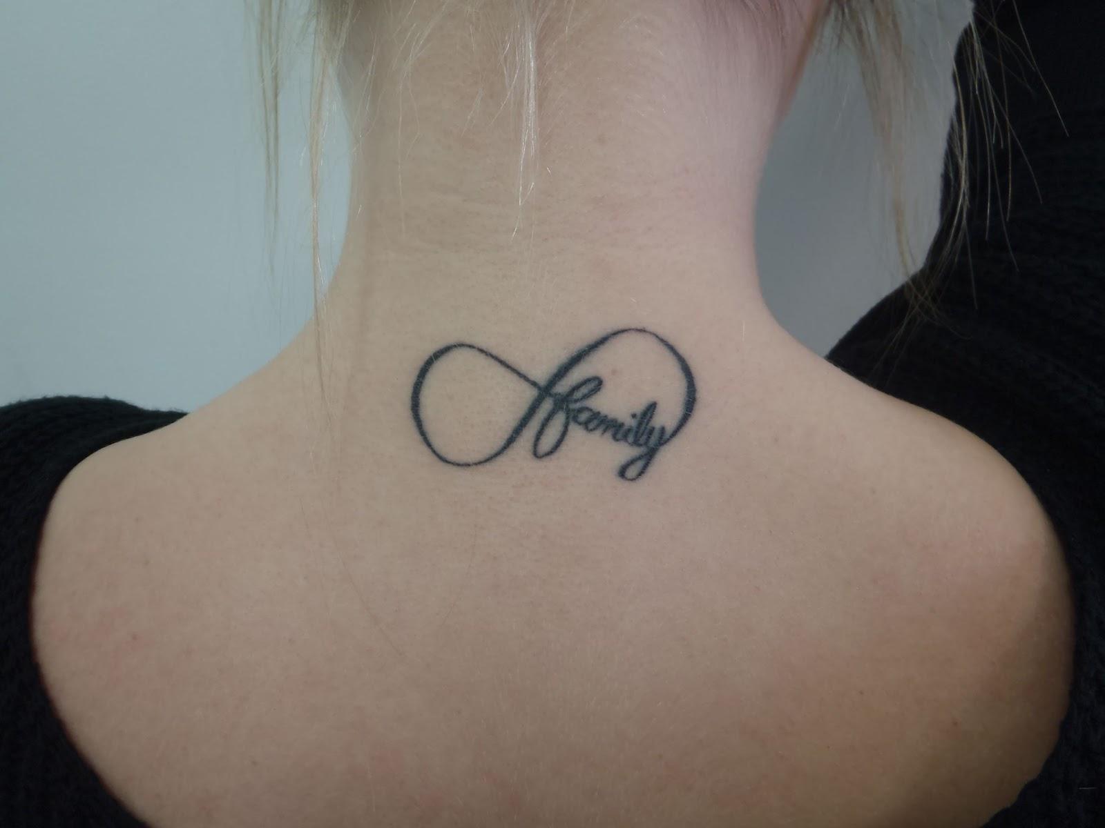 Family Infinity Tattoo Designs