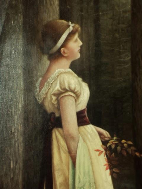 Vintage Paintings Of Women Antique ART Garden: Mo...