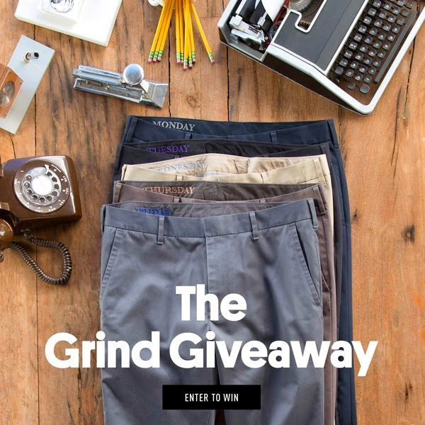 giveaway, enter to win, bonobos, exclusive, grind giveaway