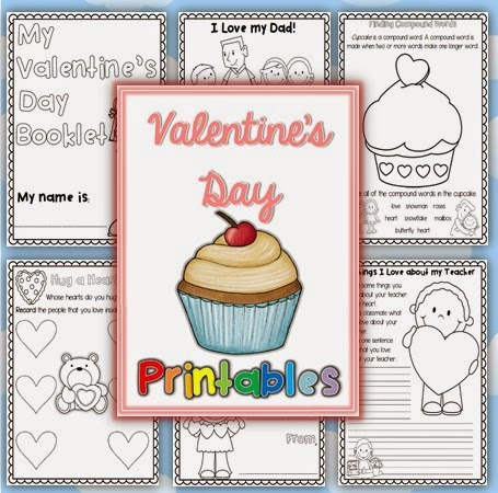 Valentine's Day Writing Worksheets/Printables for K-1