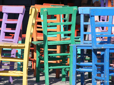 Colourful Chairs In Kaş