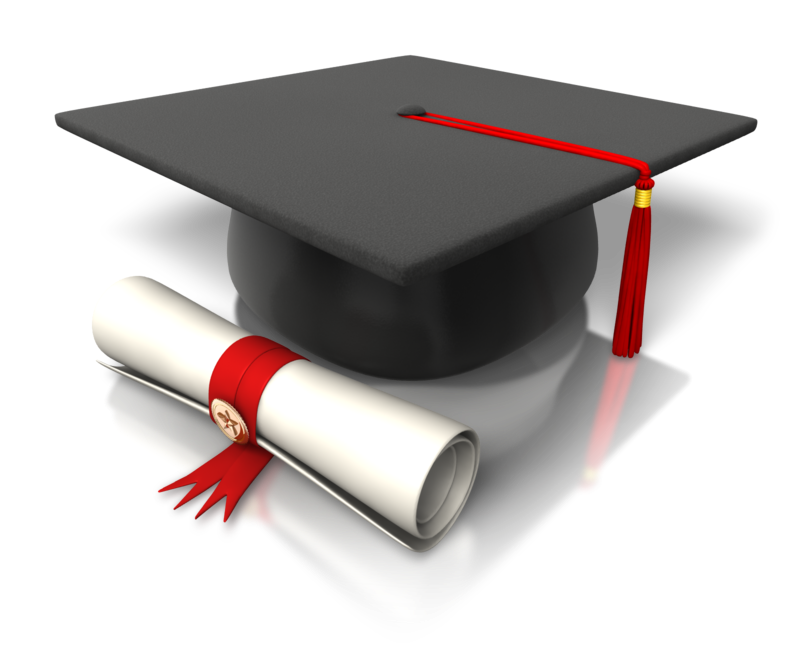 University degree and graduation cap