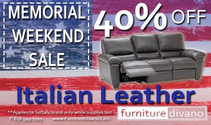 Italian Leather Sofa San Diego, San Diego Furniture, Top Grain Leather,  Aniline
