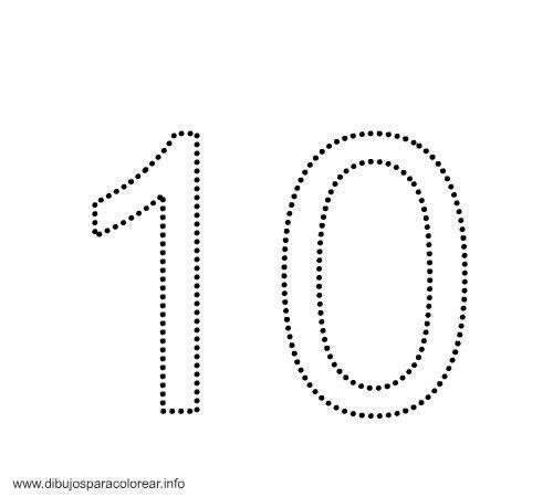 Trabajando en Educación Infantil: 10 fichas del número 10