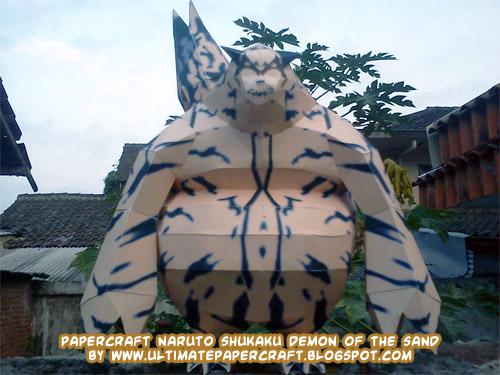 Ninjatoes' papercraft weblog: Papercraft Naruto Shukaku ...