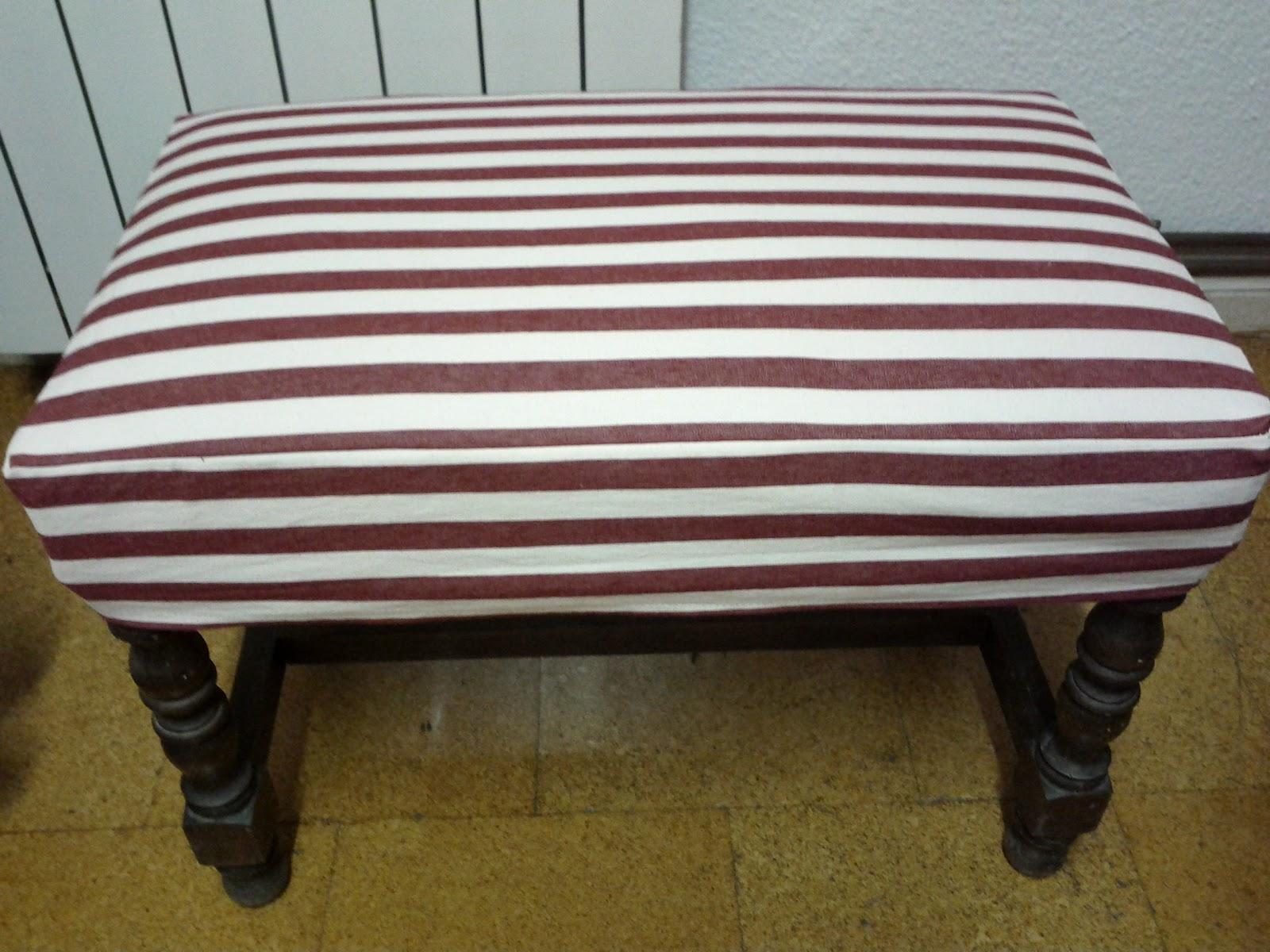 Un mar de coses restaurando un taburete pie de cama for Taburete pie de cama