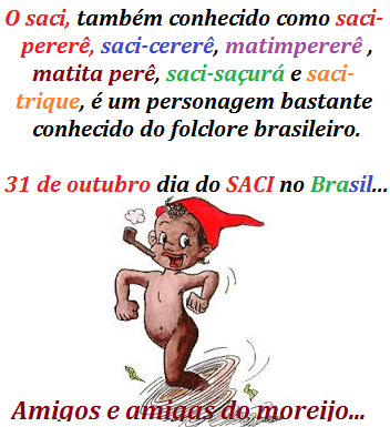 No Brasil do saci-pererê