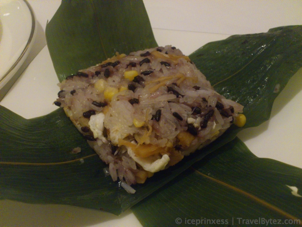 Steamed Rice wrapped in leaves