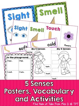 https://www.teacherspayteachers.com/Product/Five-Senses-1706295