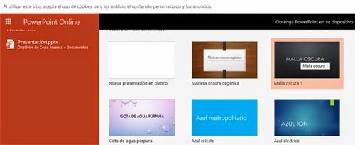 Crear una presentación de Power Point desde Hotmail