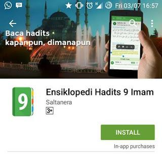 Download Ensikopledi Hadits 9 Imam (Versi Andorid dan iOS)