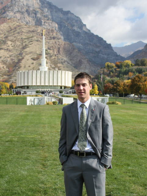 Elder Johnson at the Provo Temple