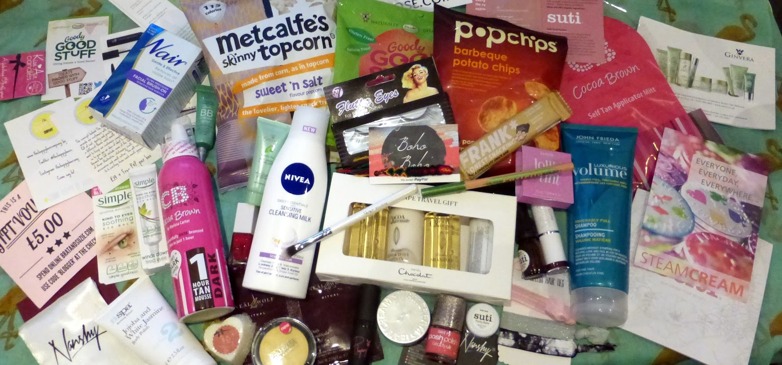 Sheffield bloggers meetup, goodie bag